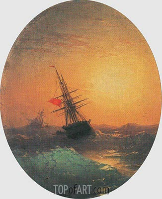 Turkish Ship on a Wavy Sea, undated | Aivazovsky | Painting Reproduction