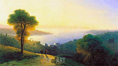 Constantinople from Topkapi, 1874 | Aivazovsky | Painting Reproduction