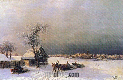 Moscow in Winter from the Sparrow Hills, 1872 | Aivazovsky | Painting Reproduction