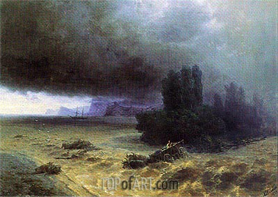 Flood in Sudak, 1897 | Aivazovsky | Gemälde Reproduktion