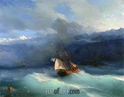 Along the Coast, undated | Aivazovsky | Painting Reproduction