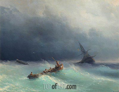 Storm at Sea, 1873 | Aivazovsky | Painting Reproduction