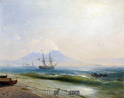 View of Mount Vesuvius, 1878 | Aivazovsky | Painting Reproduction