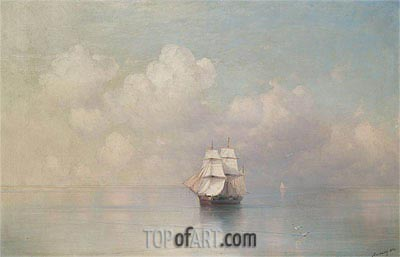 Calm Seas, 1884 | Aivazovsky | Painting Reproduction