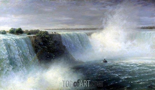 Aivazovsky | View of Niagara Falls, 1892