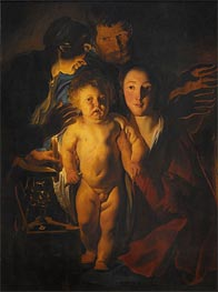 The Holy Family, Undated by Jacob Jordaens | Painting Reproduction