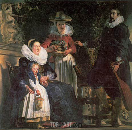 Jacob Jordaens | The Artist and his Family, c.1621/22