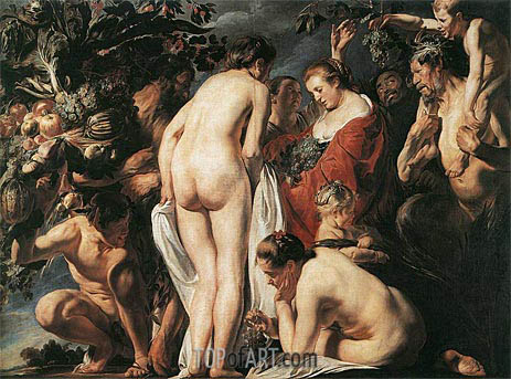 Allegory of Fertility, c.1623 | Jacob Jordaens | Gemälde Reproduktion