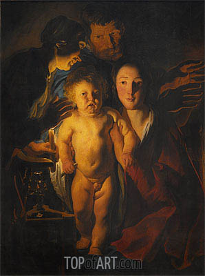The Holy Family,  | Jacob Jordaens| Painting Reproduction