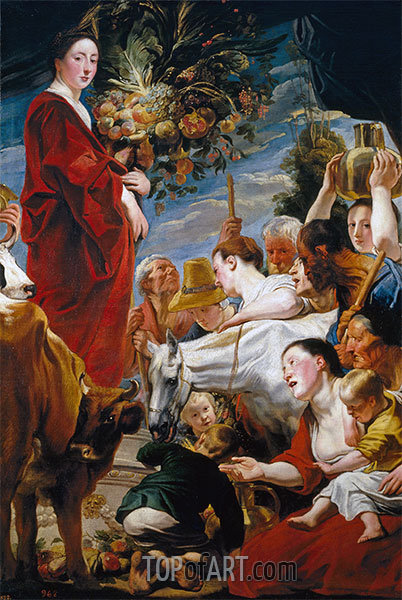 Offering to Ceres, c.1619 | Jacob Jordaens | Painting Reproduction