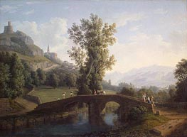 View of Montesarchio, 1791 by Philippe Hackert | Painting Reproduction