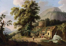 View of the Copper-Mill in Vietri, c.1773 by Philippe Hackert | Painting Reproduction