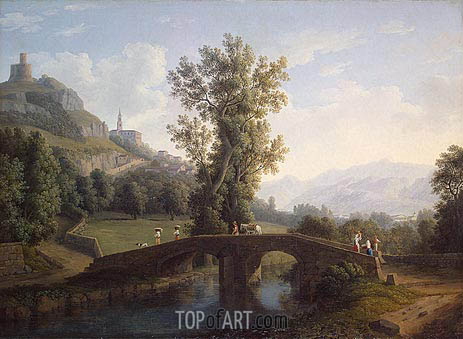 View of Montesarchio, 1791 | Philippe Hackert | Painting Reproduction