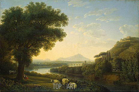 Italian Landscape, 1795 | Philippe Hackert | Painting Reproduction