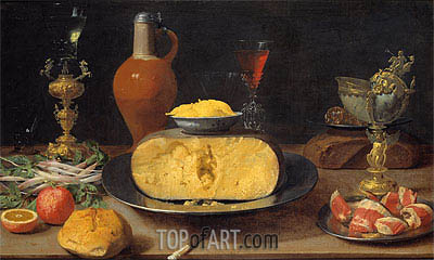 Breakfast Piece with Cheese and Goblets,  | | Gemälde Reproduktion