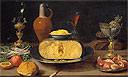Breakfast Piece with Cheese and Goblets | Jacob Fopsen van Es