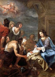 The Adoration of the Shepherds, undated by Jacob van Oost | Painting Reproduction