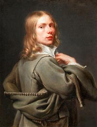 Portrait of Young Man, undated by Jacob van Oost | Painting Reproduction