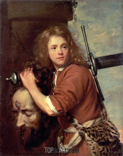 David Bearing the Head of Goliath, 1643 | Jacob van Oost | Gemälde Reproduktion