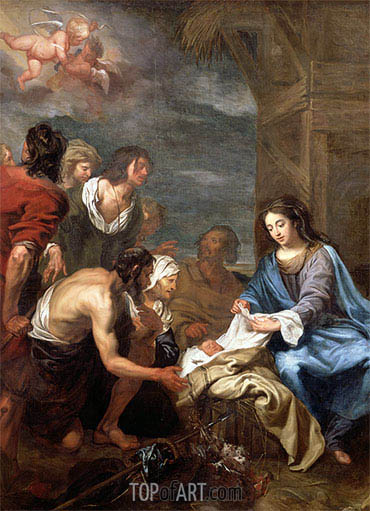 The Adoration of the Shepherds, undated | Jacob van Oost | Painting Reproduction