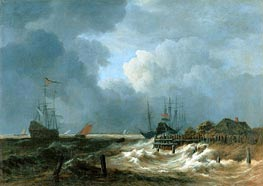 The Storm, undated by Ruisdael | Painting Reproduction