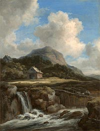 Mountain Torrent, c.1670/80 by Ruisdael | Painting Reproduction