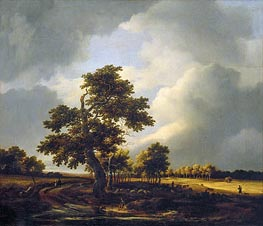 Landscape with Shepherds and Peasants (After the Storm), c.1660/70 by Ruisdael | Painting Reproduction
