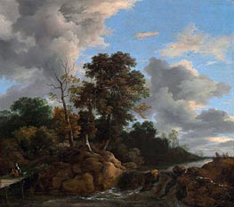 Landscape, c.1670 by Ruisdael | Painting Reproduction
