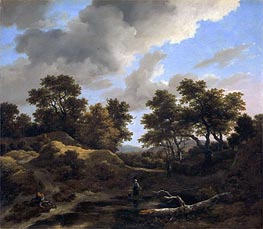 Hills and Woods, c.1660/70 by Ruisdael | Painting Reproduction