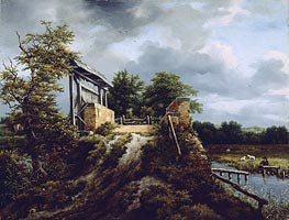 Bridge with a Sluice | Ruisdael | Gemälde Reproduktion
