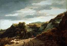 Dunes, c.1650/55 by Ruisdael | Painting Reproduction