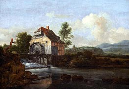 Landscape with a Watermill, c.1680 by Ruisdael | Painting Reproduction