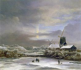 Winter Landscape, undated by Ruisdael | Painting Reproduction
