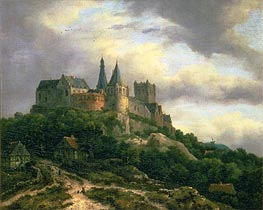 The Castle of Bentheim | Ruisdael | Gemälde Reproduktion