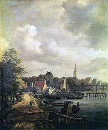 View of Amsterdam, undated by Ruisdael | Painting Reproduction