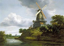 Windmill by a River | Ruisdael | Gemälde Reproduktion