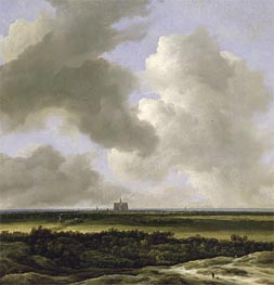 Panoramic View of Haarlem | Ruisdael | Gemälde Reproduktion