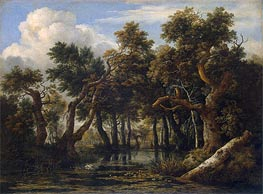 Marsh, c.1660/70 by Ruisdael | Painting Reproduction