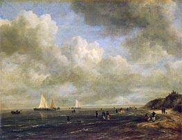 Seashore, c.1665/75 by Ruisdael | Painting Reproduction