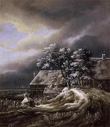 Winter Landscape, c.1670/80 by Ruisdael | Painting Reproduction
