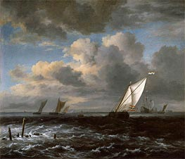 Rough Sea | Ruisdael | Gemälde Reproduktion