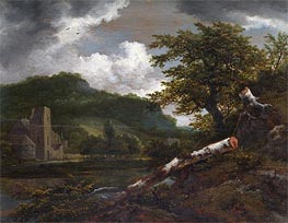 A Landscape with a Ruined Building | Ruisdael | Gemälde Reproduktion