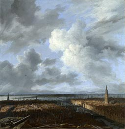 A Panoramic View of Amsterdam looking towards the IJ | Ruisdael | Gemälde Reproduktion