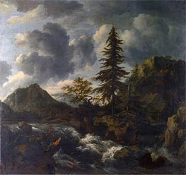 A Torrent in a Mountainous Landscape | Ruisdael | Gemälde Reproduktion