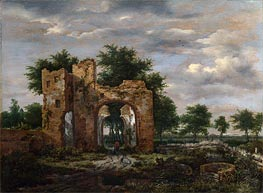 A Ruined Castle Gateway | Ruisdael | Gemälde Reproduktion