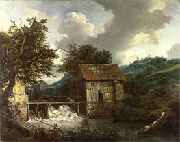 Two Watermills and an Open Sluice at Singraven | Ruisdael | Gemälde Reproduktion