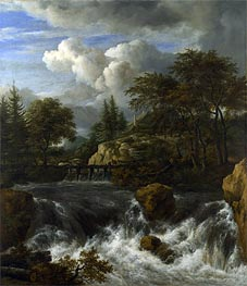 A Waterfall in a Rocky Landscape | Ruisdael | veraltet