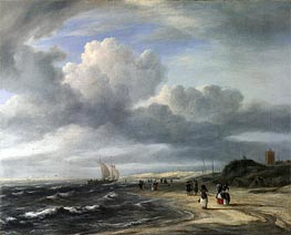The Shore at Egmond-aan-Zee, c.1675 by Ruisdael | Painting Reproduction