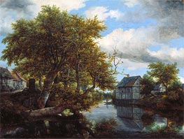The Great Pool, 1652 by Ruisdael | Painting Reproduction