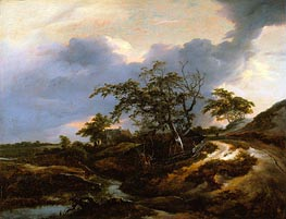 Landscape with Dunes, 1649 by Ruisdael | Painting Reproduction